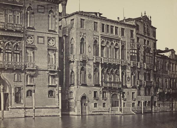 Palazzo Cavalli and Palazzo Barbaro, Venice (1850s / 1860s ?)