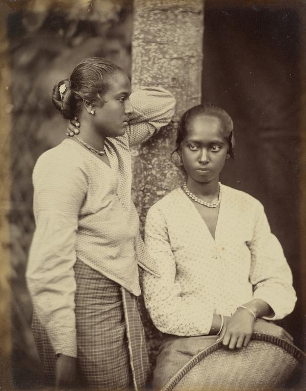 Two Singhalese Girls (About 1880)