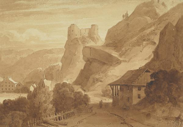 Alpine Scene with Ruined Castle (About 1822 - 1823)