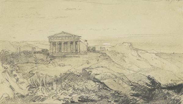 Temple of Concord Agrigento (Sicily) (About 1817)