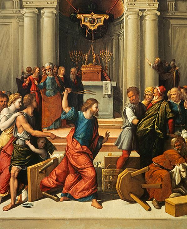 Christ Driving the Money-changers from the Temple (About 1540 - 1550)
