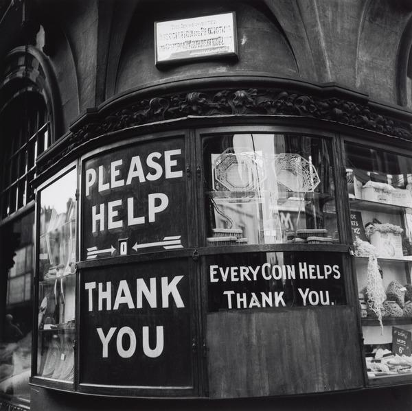 Untitled ['Please Help Thank You'] (About 1935 (negative))