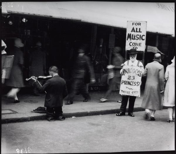Untitled ['For all music come to Murdochs'] (About 1935 (negative))