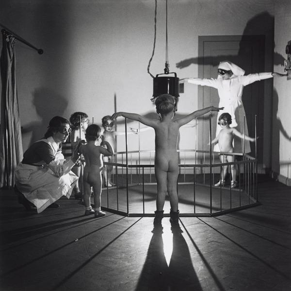 Untitled [Children receiving light treatment] (About 1935 (negative))