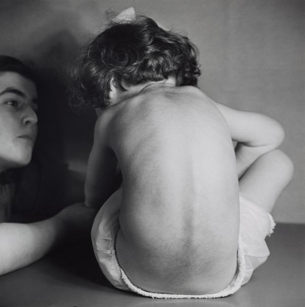 Untitled [Woman and Child with Back Turned, Camphill School, Bieldside, Aberdeen] (1949 (negative))