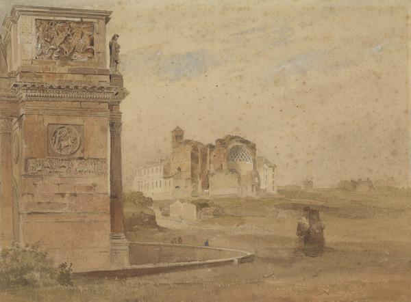 The Arch of Titus and the Temple of Venus, Rome