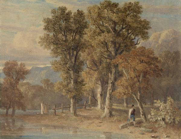 Trees near a Lake (About 1825)