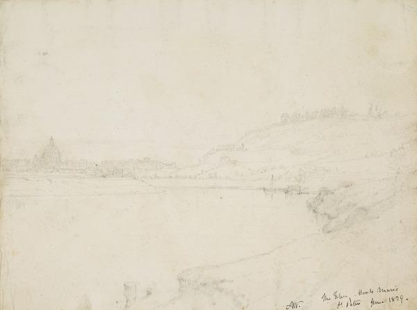 The Tiber, Monte Mario and St Peter's, Rome (Dated 1829)