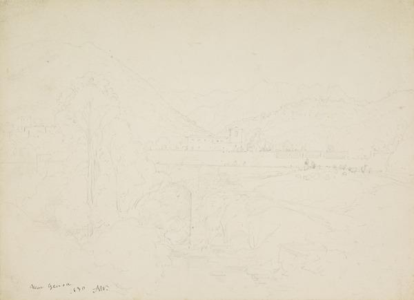 Bridge over a River near Genoa (Dated 1830)