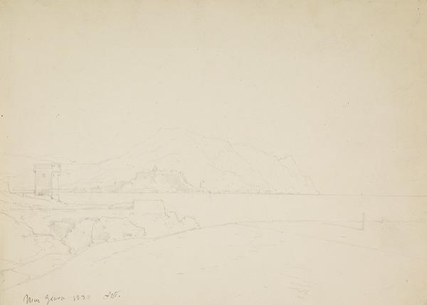 Landscape near Genoa (Dated 1830)