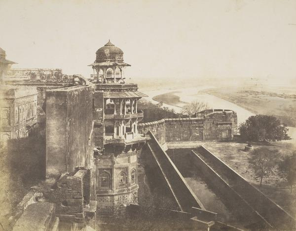 The Front of Akbar's Palace, Agra (About 1855)