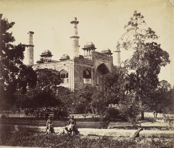View from the Garden of the Entrance to Akbar's Tomb, Sikandra (About 1864)