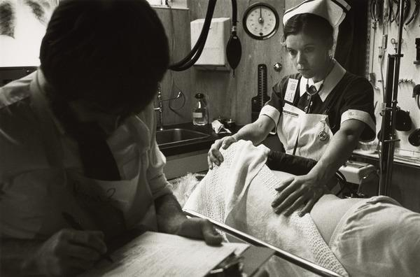 Print from the Royal Infirmary Series: Nurse with patient