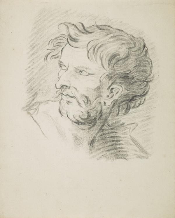 Copy Drawing of a Male Head (Mid-18th century)