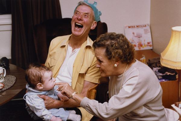 My Mum and Dad with their Grandson, Christmas Day, 1989