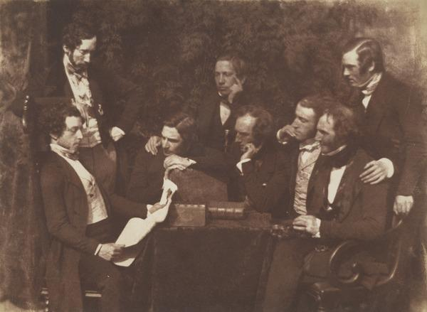 Group of unknown men (Mr Mackenzie, second from right) [Group 172] (1844 - 1846)
