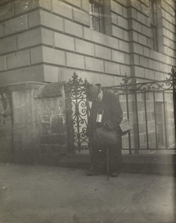 'One of Edinburgh's Many Beggars Taken in George IV Bridge' (About 1912)