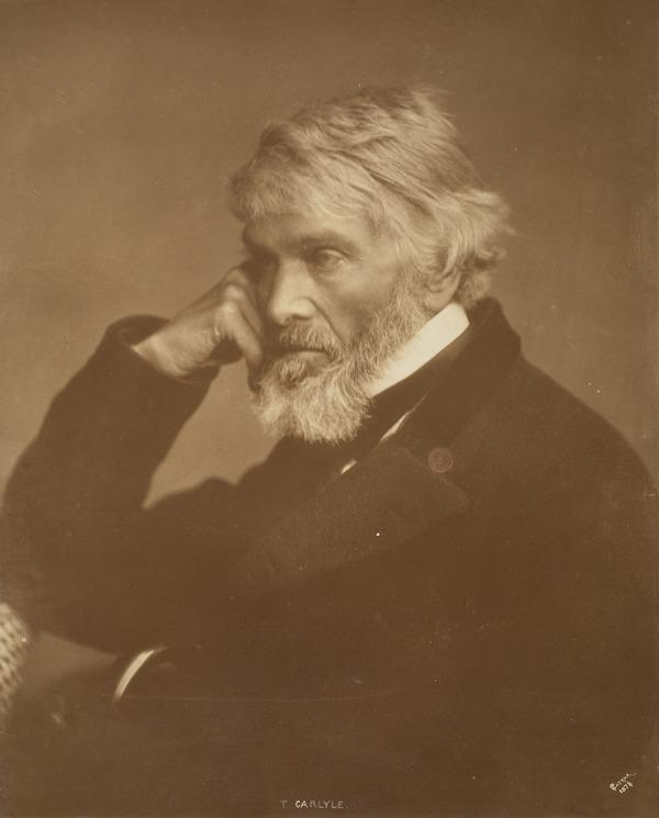 Thomas Carlyle, 1795 - 1881. Historian and essayist (1874)