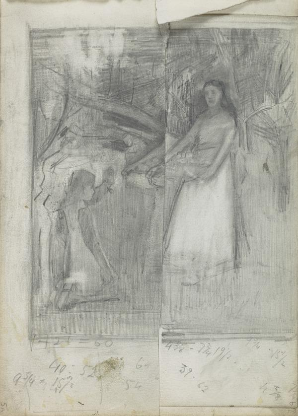 Composition Study for 'In the Orchard' (1885)