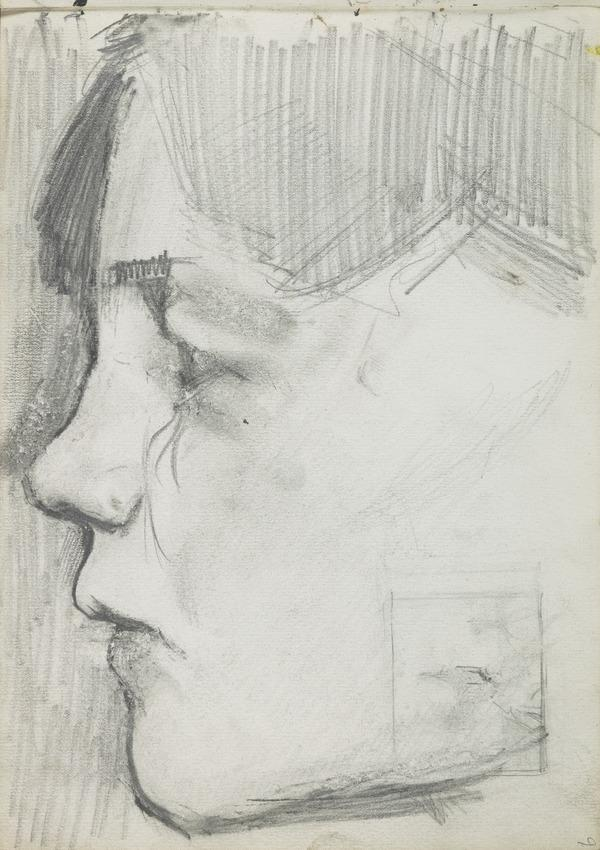 "Study of the Head of a Girl in the Painting ""Schoolmates"" (1884)"