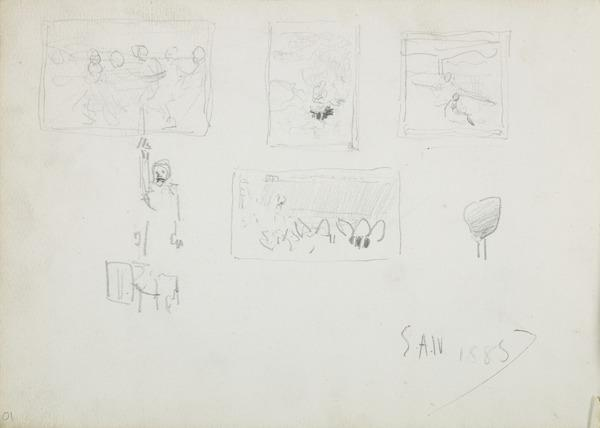 Small Composition Sketches (Dated 1885)