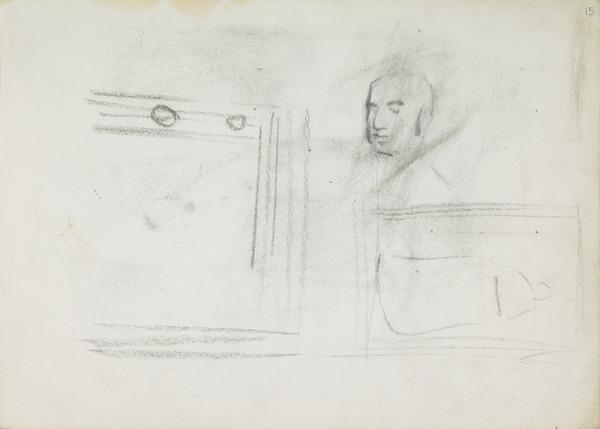 Head of Robert Gourlay; Composition Sketch for a Portrait of Archbishop Charles Eyre (1817 - 1902); Sketch of a Frame (Before 1891)