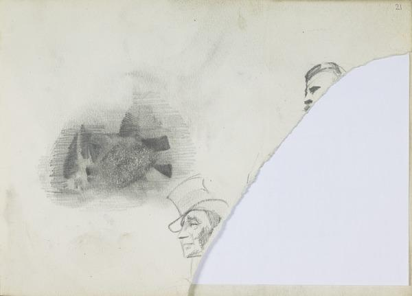 Three Sketches of Heads (1883 - 1891)