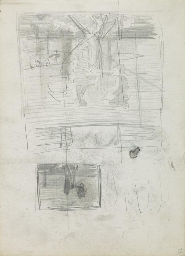 Two Composition Sketches for 'In the Orchard' (1885)