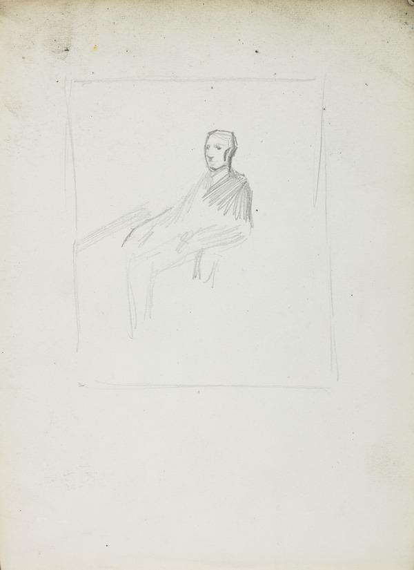 Composition Sketch for a Portrait of Robert Gourlay (1840 - ?) (Before 1887)