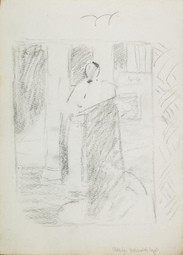 Composition Sketch for a Portrait of Archbishop Charles Eyre (1817 - 1902) (Before 1891)