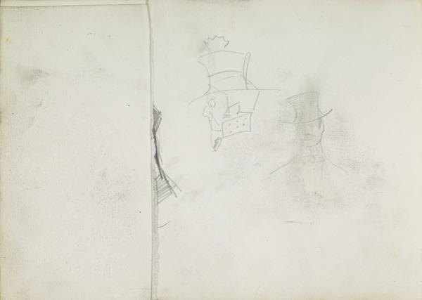 Two Caricatures of Men with Hats (1883 - 1891)