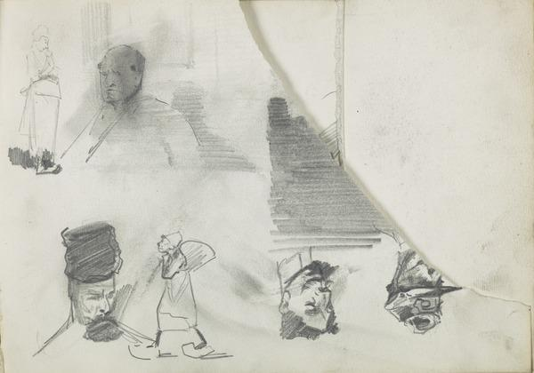 Seven Sketches of Heads and Figures (1883 - 1891)