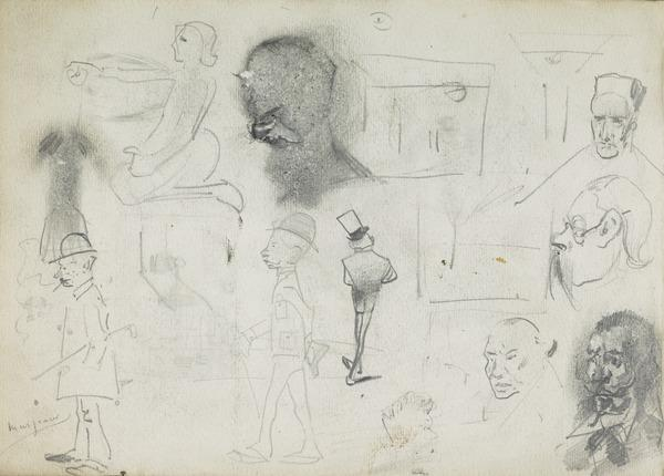 Various Sketches of Heads and Caricatures (1883 - 1891)
