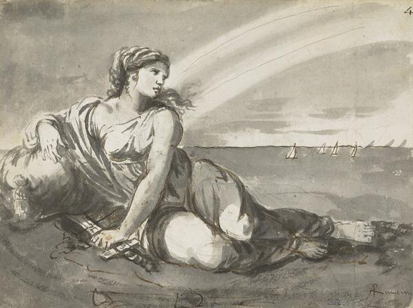 Dido on the Seashore with a Sword in her Hand [Verso: Woman and Child]