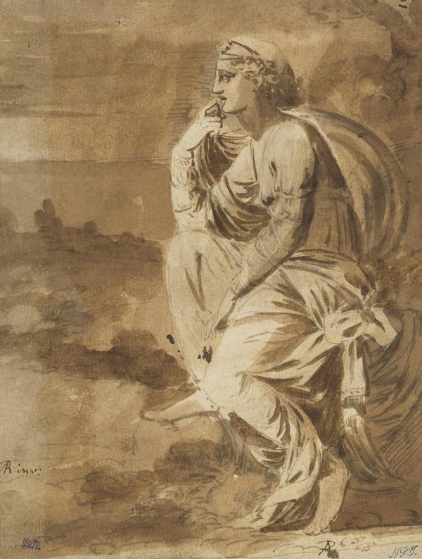 Ariadne (or Armida ?) on the Seashore