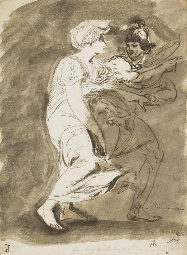 Study for the Painting 'The Landing of Saint Margaret'