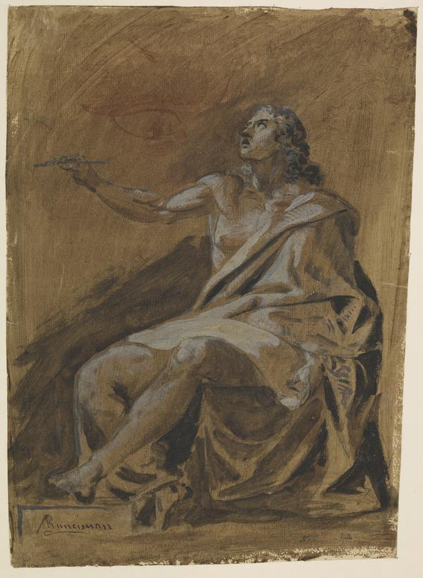 An Allegorical Figure Representing 'Painting' [Verso: Achilles and Pallas]