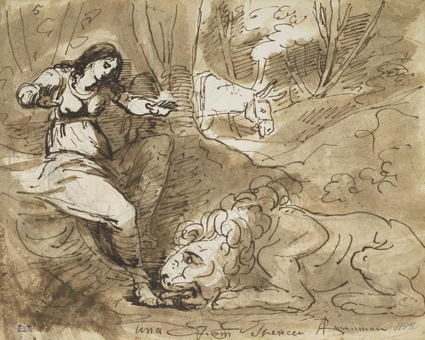 Una and the Lion (from Spenser's 'The Faerie Queene')