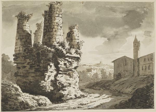 The Tomb of the Horatii on the Appian Way (About 1767)