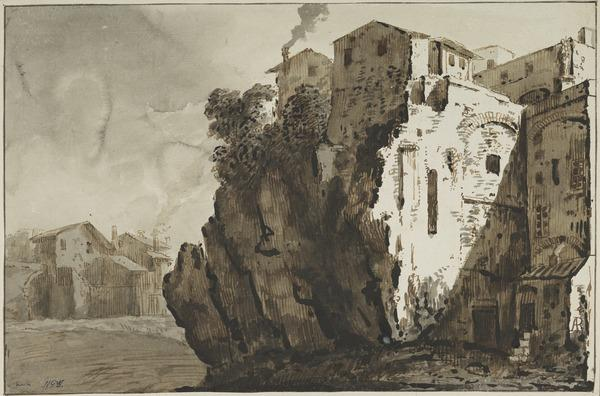 Houses Built into the Tarpeian Rock