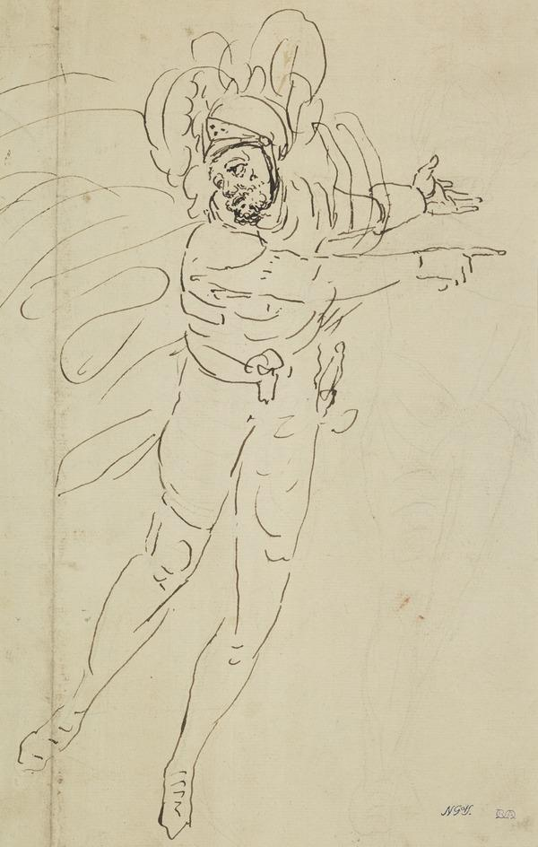 A Soldier in a Plumed Helmet. Study for the Painting 'The Landing of Saint Margaret'