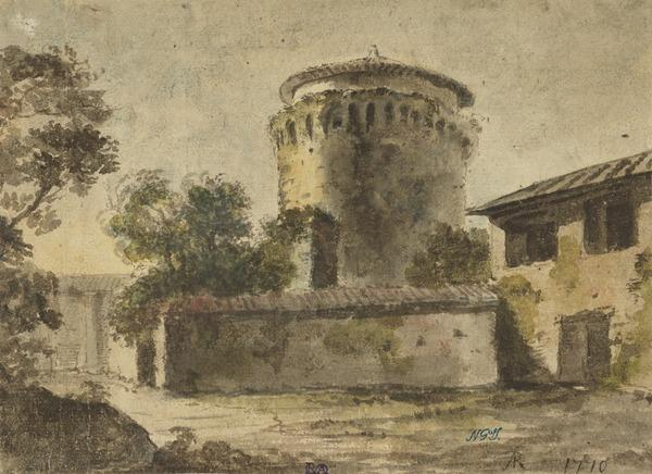 A Tower on the Wall of Leo IV, near the Vatican, Rome (Dated 1770)