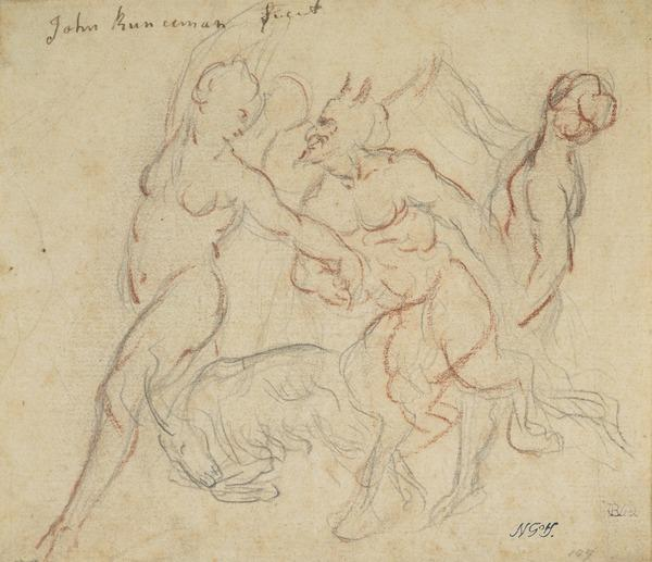 A Satyr with Two Nymphs