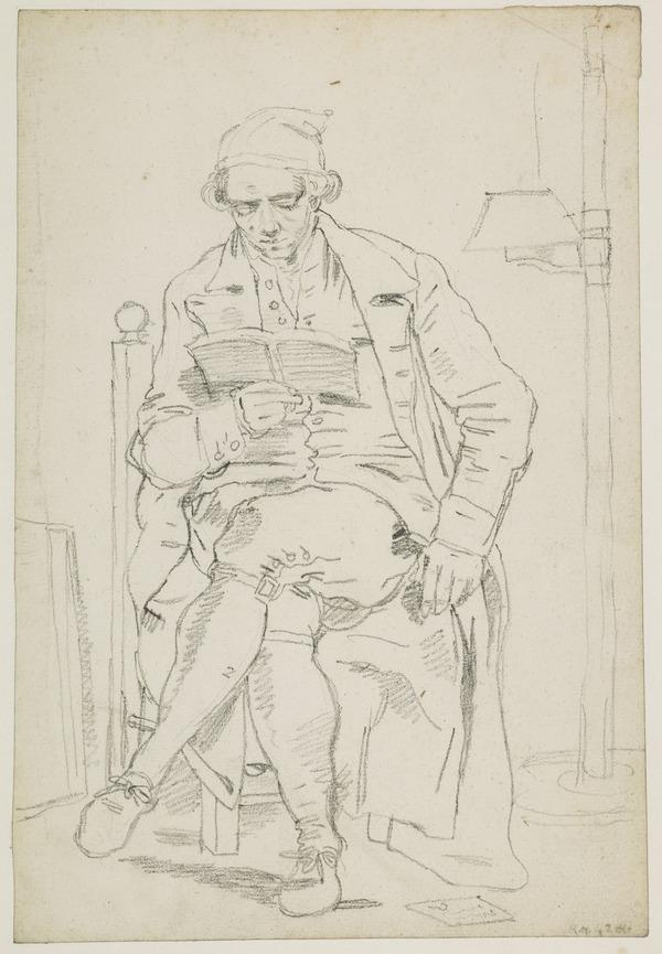 Study of a Man Seated Reading (possibly Alexander Runciman, 1736 - 1785, the Artist's Brother)