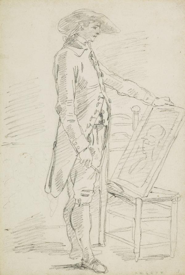 An Artist Examining his Drawing