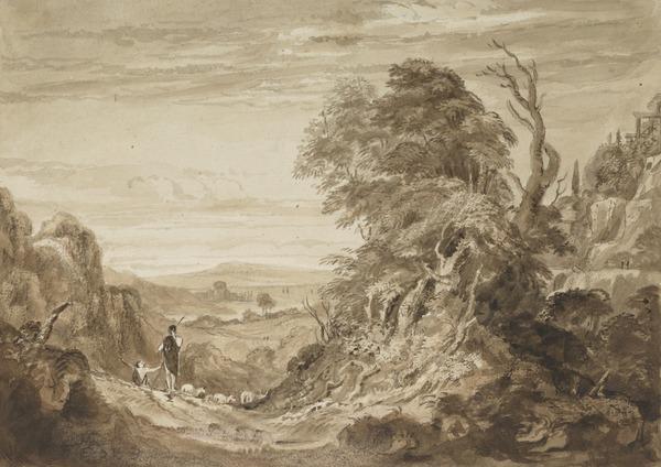 Shepherds in an Italianate Landscape (About 1826)
