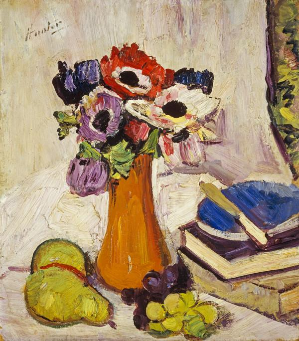 Still Life with Anemones and Fruit (About 1920 - 1925)