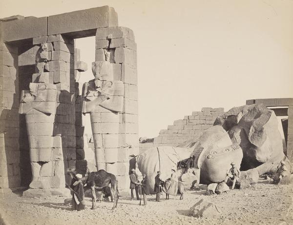 'The Ramesum of El-Kurneh, Thebes'. (1857)