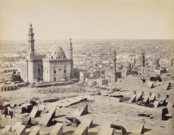 'Cairo from the Citadel with the Mosque of the Sultan Hasan' (1857)