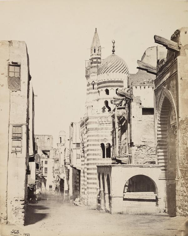 'Street View in Cairo'. (1858 (engraved on page 1857))